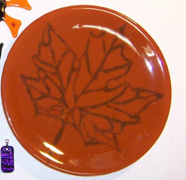 glass Maple leaf