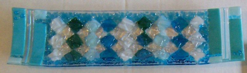 glass scrap bread dish